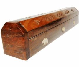 Wierookstokjes Brander en Bewaardoos Olifanten