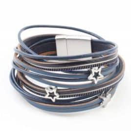 Wikkelarmband Sterren Blauw