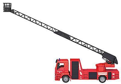 2001187-1-Siku 2114 MAN Brandweer ladder uitgeklapt