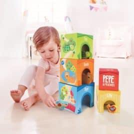 Hape speelgoed bouwtoren kubussen