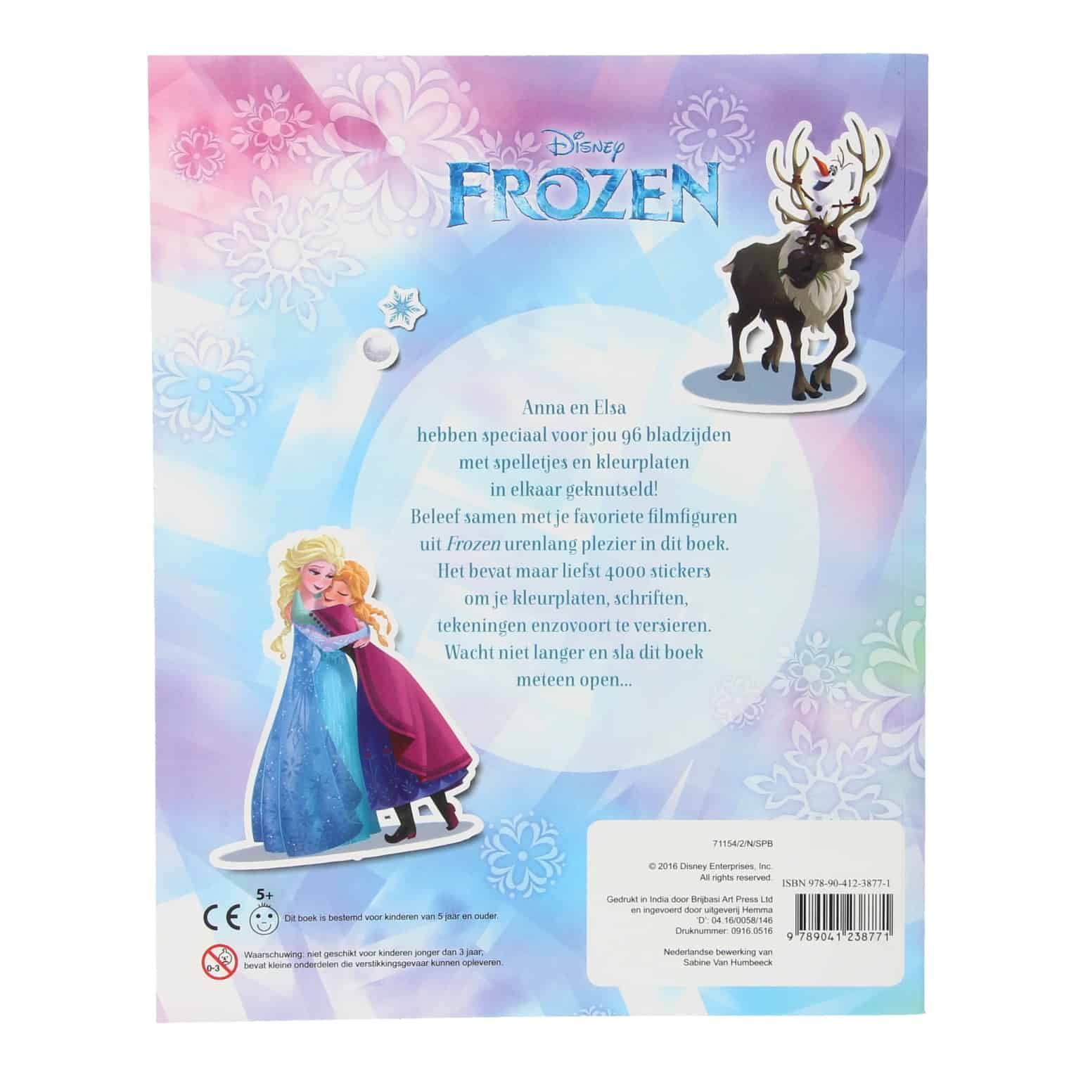 Kinder Kleurplaten Van Disney.Disney Frozen 4000 Stickerboek