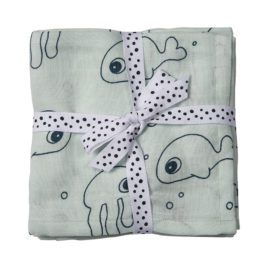 done by deer swaddle sea friends blauw