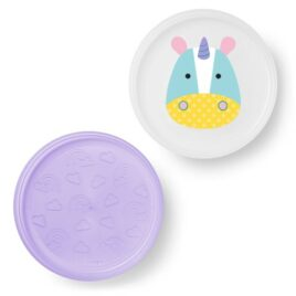 skip hop zoo smart serve plate unicorn uitgestald