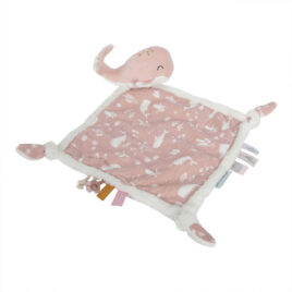 little dutch knuffeldoekje walvis pink