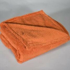 Plaid Coral Fleece Geruit Dark Orange